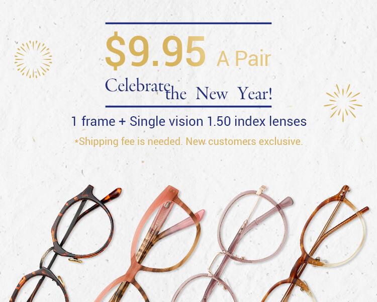 $9.95 Prescription Glasses for New Customers