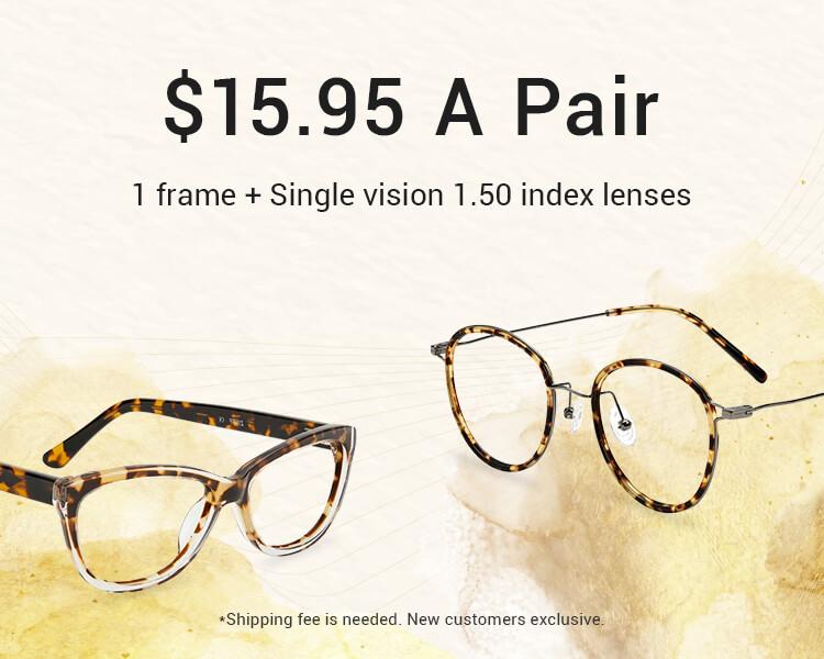 $15.95 Prescription Glasses for New Customers