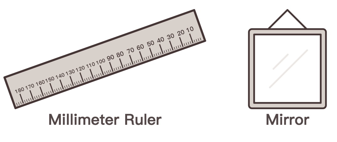 mm ruler for glasses
